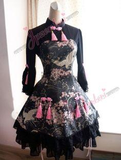 「チャイナロリー」の由来    「チャイナロリー」はチャイナドレス風ロリータドレスの略称です。これはjpゼンタイ独創した   デザインで年齢に問わず、ガールやレディーにもよく似合うのドレスです。