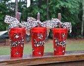 Personalized Acrylic Tumbler Cup Lid Straw, BPA Free Plastic, 16 oz- Bride Bridesmaid Bachelorette Wedding Party DRESS STYLE 3. $15.00, via Etsy.