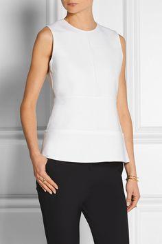 Victoria, Victoria Beckham | Pintucked wool top | NET-A-PORTER.COM