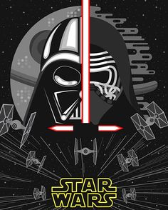 Star Wars Poster Created by Shawn Aik #starwars #darthvader #kyloren #bensolo…