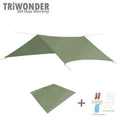 b8ea86922 Triwonder 846 x 846 Outdoor Waterproof Camping Shelter Tent Tarp Footprint  Groundsheet Blanket Mat GreenAccessories -