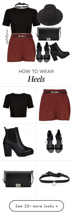 """""""Shoe dilemma! Heels or flats?? xx #Styledbytherow"""" by riseoftherow on Polyvore featuring DANNIJO, Ted Baker, River Island, Chanel and Brixton"""