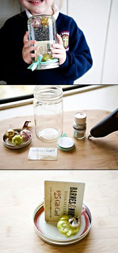 #DIY Gift Card Snow Globe... really cute gift card wrap idea