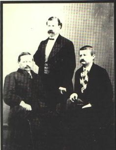 Sheriff William Brady (center, standing) and Friends This photo of Brady was taken circa The two men with him are unidentified. American Line, European American, Native American History, Early American, Lumberjack Beard, Cowboy Pictures, Billy The Kids, American Frontier, Travel Humor