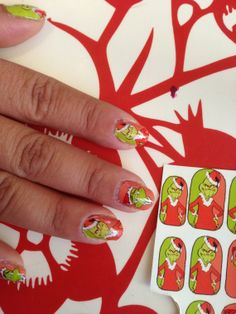 You're a Mean one Mr GRINCH nail decals Great by chachacovers, $5.00