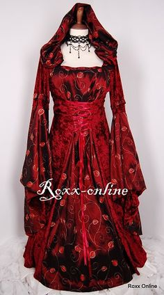 Google Image Result for http://www.roxx-online.com/roxxOnline/images/productPhotos/dark%2520red%2520hooded%2520medieval%2520dress%2520with%2520large%2520sleeves%25203639.JPG