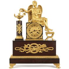 Silla Fine Antiques - French Napoleon III Antique Bronze Mantel Clock w/ Winged Figural (http://www.sillafineantiques.com/french-napoleon-iii-antique-bronze-mantel-clock-w-winged-figural/)