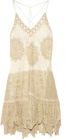 ☮ American Hippie Bohemian Style ~ Boho Lace Slip Dress!