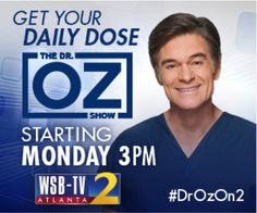 DR. OZ IS MOVING TO ATLANTA IN SEPTEMBER!! #DROZON2