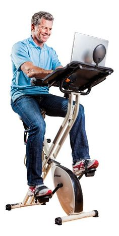 Hooboy! I am SO getting this. Amazon.com: FitDesk FDX 2.0 Desk Exercise Bike with Massage Bar, White: Sports & Outdoors