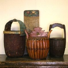 Antique Asian Food Boxes and Carriers