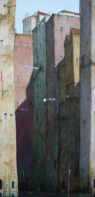 Venice Rio del Angelo by Cyril Croucher (contemporary), British (redraggallery)