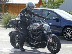 New Ducati cruiser, Diavel's successor spotted testing again