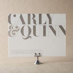 Carly Wedding Invitation Design