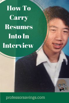 How to Carry Resumes Into an Interview : Career Tips #career #job #money Click=>> http://professorsavings.com/how-to-carry-resumes-into-an-interview-career-tips/?utm_content=bufferb50a3&utm_medium=social&utm_source=pinterest.com&utm_campaign=buffer