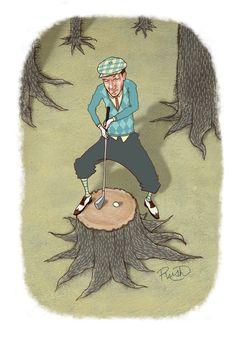 Golf Magazine Illustrations - Jason Raish Illustration