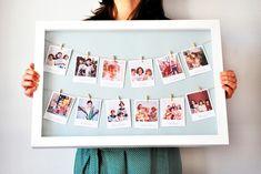 """Decoración de pared - Cuadro """"Polaroid"""" - hecho a mano por conmdemerci en DaWanda"""