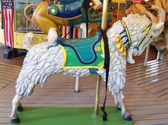 Empire State Carousel  Goat Stander © Jean Bennett -- [REPINNED by All Creatures Gift Shop]