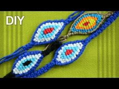 ▶ How to Make a Macrame EYE BRACELET - YouTube