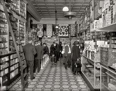 "Washington circa 1920. ""People's Drug Store, interior, 14th and U streets."""