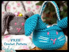 crochet easter basket | candy easter crochet. free pattern. #eggs #crochet #easter