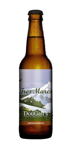 Cerveza artesanal Dougall's Tres Mares, Amber Ale 5,2% ABV (DouGall's (Cervezas Artesanales de Cantabria S.L.), Liérganes (Cantabria)) [octubre 2016]