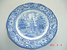 Liberty Blue Staffordshire Dinner Plates