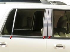 Lincoln Navigator Pillar Posts Post Trim Chrome Stainless Steel 6PC PP55384 #QAAQualityAutomotiveAccessories