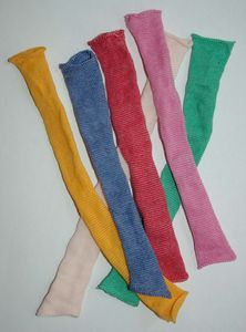 Doll sock from colorful bandages - tutorial