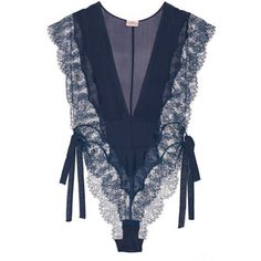 Agent Provocateur Willa silk-chiffon and Leavers lace bodysuit