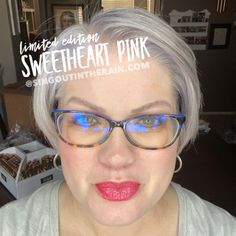 Limited Edition Sweetheart Pink LipSense by SeneGence is a cool color. You can view it on people, look at combos or comparisons or even in a collage.  However, nothing rivals seeing it on a real person.  Click to purchase yours NOW!  #lipsense #senegence