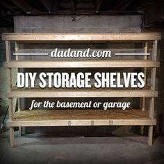 Cheap And Easy DIY Shelves For The Basement Basement