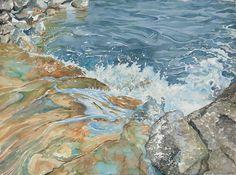 Splashing Into Lake Austin by Leslie White