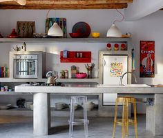 concrete kitchen #concrete #kitchen #decor