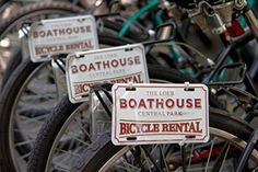 Rent bikes at the boathouse and ride around Central Park