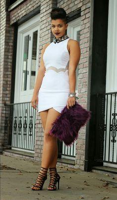 "ecstasymodels: "" White Holiday Dress Carmen "" BGKI - the website to view fashionable & stylish black girls shopBGKI today White Holiday Dress, Holiday Dresses, White Dress, Black Girls, Black Women, Beautiful Black Girl, Recycled Fashion, Vogue, White Outfits"