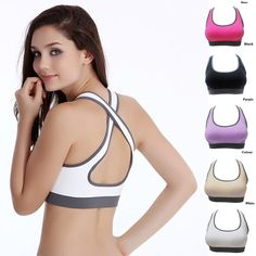 c31abf97ec Women Padded Top Athletic Vest Gym Fitness Sports Bra Stretch Cotton  Seamless Free Shipping popular