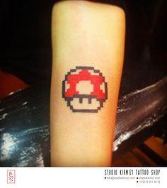 super mario growe up mushrom #tattoos #tattoo #ink #dövme