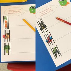 Evil pea up to no good again! Want to encourage my boys to start writing! They are amazing in adult focussed groups, they just dont… Superhero Writing, Superhero Classroom Theme, New Classroom, Classroom Themes, Super Hero Activities, Eyfs Activities, Writing Activities, Classroom Activities, People Who Help Us