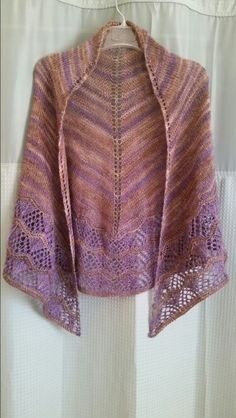 Wish I Might by Irish Girlie Knits. Using Anzula luxury hand dyed yarn, Nebula. Purple & Brown.