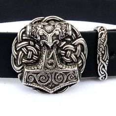#Belt with #Thors #Hammer Buckle - Available on ETSY by Pera Peris