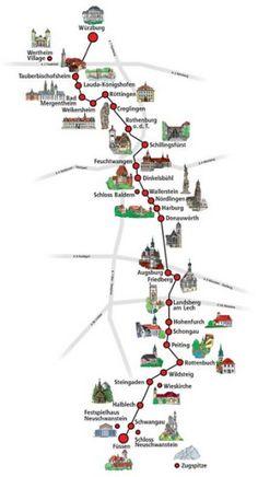 Rota Romântica, na Alemanha mapa2