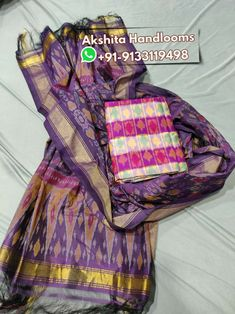 Pochampally ikkat cotton silk dress materials mtrs top with dupatta Available in stock For more details call or WhatsApp at Pochampally Sarees, Silk Material, Cotton Silk, Silk Dress, Tops, Dresses, Fashion, Silk Gown, Vestidos