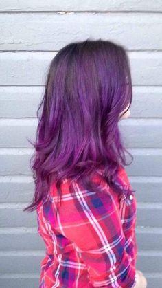 Love my purple hair!