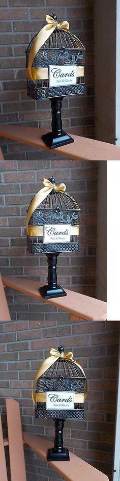 Card Boxes and Wishing Wells 168189: Birdcage Wedding Money Holder, Pedestal Birdcage Card Holder, Bridal Shower -> BUY IT NOW ONLY: $59 on eBay!
