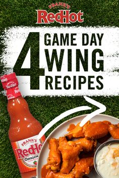 Chicken wings for game day? DUH. No tailgate is complete without wings and Frank's RedHot has you covered with four easy chicken wing recipes. From Very Hot Buffalo to Spicy Honey BBQ, swipe right to find the perfect buffalo wing flavor for your tailgate crew.