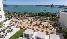 Bay Parc Apartments in Miami, FL offers pet-friendly and smoke-free apartments with wood flooring, modern kitchens and resort-style pools, near Bayfront Park. 2 Bedroom Apartment, Stunning View, Outdoor Furniture, Outdoor Decor, Sun Lounger, Miami, New Homes, Deck, Modern
