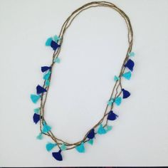 Necklace Tassle in Blues