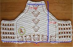 Thainá Agulha de Crochê: Top Cropped de Crochê