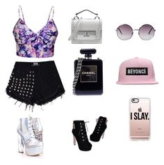 """""""Untitled #1"""" by ariinz on Polyvore featuring Ally Fashion, JY Shoes, Chanel, Marc Jacobs, Monki and Casetify"""